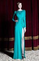 aqua designer dresses - Aqua Designer Long Sleeve Mermaid Evening Dress With Embroidery Sequin Zuhair Murad Side Slit Sexy Formal Occasion Dress Custom Made