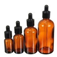 Wholesale Amber Glass Liquid Atomiser Pipette Bottle Eye Dropper Oil Drops Aromatherapy Packing Bottles