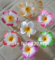 foam plumeria - 10X cm Hawaiian Plumeria Foam Flowers For Hair Wedding Bridal Bridesmaids Hair Clips Assorted Colors