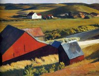 barn houses - Landscape Art oil Painting Edward Hopper by Cobb s Barn and Distant Houses Room decoration Hand painted High quality
