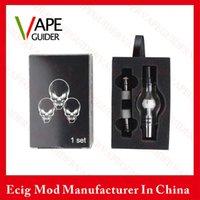 Cheap Glass Globe Wax Vaporizer Pen Kit Glass Globe Wax Oil Set With Three Coil Head Dual Coil Glass Globe Tank Kit