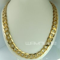 Wholesale 18k yellow gold Filled mens solid chain Necklace ring link chrismas gift N231