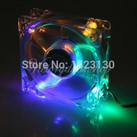 Wholesale High Quality Brand New light mm Chassis Crystal LED Case Fan For Computer PC CPU Cooling Pins Rainbow