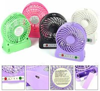 Wholesale LILENG Portable USB Mini Fan Wind Speed Rechargeable Battery Handheld cooler Four blades Fan with LED Light Free DHL Factory Direct
