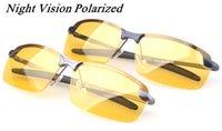 achat en gros de anti-éblouissement conduite lunettes-Métal / Lunettes de vision nocturne classiques Lunettes de soleil anti-éblouissement Noctilucent Polaris Safe Driving Goggles TAC Polarized lenses Livraison gratuite