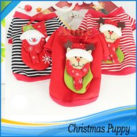 Wholesale New Fashion Xmas gift Pet Dog Puppy Christmas Clothes Costumes Suit Cosplay Party Dress Up