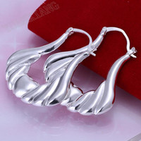 Wholesale fashion jewelry sterling silver earrings fine hollow purses