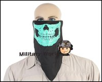 Wholesale Triangle Multifunctional Glow Skull Party Motorcycle Ski Winter Outdoor Sports Protection Portable Half Face Mask For Men OD order lt no t