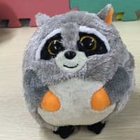 beanie ballz - IN HAND NEW TY BEANIES BALLZ SERIES STUFFED ANIMAL BIG EYES eyes quot Raccoon Mischief stuffed animal plush doll
