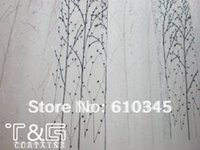 Wholesale X250 CM Tree Design polyester Organza emboridery window curtain with Rod Pocket