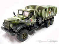 Wholesale retail New Russian KRAZ Army Military Truck Siku Size Sound And Light Work