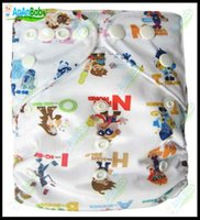 Wholesale Jctrade Printed Cloth Diapers With One Microfiber Inserts pocket AnAnBaby Diapers