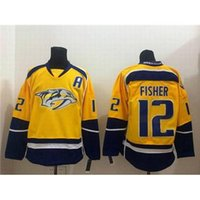 arrival mike - Mens Nashville Predator Mike Fisher Gold Home Premier Jersey New Arrival High Quality Cheap Hockey Jerseys Embroidered Sportswear