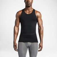 basketball tank tops - Top quality compression sports tights vest for basketball gym yoga tenis cycling masculino sleeveless layer pajamas Compression Tank Top