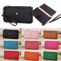 Wholesale 2015 Hot Selling Women Lady PU Leather Zipper Coin Money Card Holders Long Wallet Clutch Purse Handbag BX129 DHL EMS