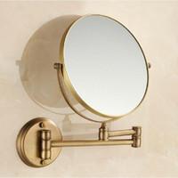 antique mirrors bath - Antique Luxury quot Dual Makeup Mirror Brass Cosmetic Bathroom Face Bath Mirror Quality Dual Arm Extend Folding Bathroom Mirror