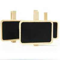 Wholesale Hot sales Wooden Mini Blackboard Message Paper Clip Mini Chalkboard Notes Folder Bookmark For Wedding Party