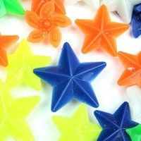Wholesale Hot Sale Bike Wheel Spoke Colorful Star Decoration Bead Reflector order lt no track