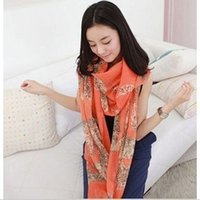 abstract autumn scarf - fashion autumn winter Female leopard print scarf abstract super long warm leopard print scarf shawl