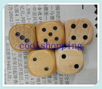 Wholesale DHL Freeshipping wood game dice mm dice kids toy dice