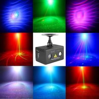 Vente en gros Nouveaux modèles à distance 8 Patterns RG Laser Lighting Eau Galaxy RGB LED Stage Light Projecteur professionnel Party DJ Home Light