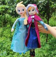 Wholesale 1pcs frozen doll cm New elsa anna frozen toy plush doll action figures frozen dolls Cheap Christmas Gift Z