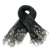 Wholesale Cheap Black Coffee Wax Snake Necklace Beading Cord String Rope Wire Extender Chain with Lobster Clasp DIY jewelry component