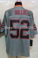 best patrick - Factory Outlet Patrick Willis Jersey Lights Out Grey Elite Football Jersey Best Quality Authentic Jersey Embroidery Logo Size M XL