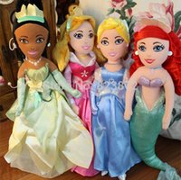 ariel beauty - Original Princesses Dolls Cinderella Princess Ariel Little Mermaid Tiana Sleeping Beauty Plush Dolls CM Toys for Girls