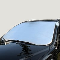 pvc cover - Car Sunshade Silver Front Window Solar Protection Sunshade Aluminum Foil Car Window Film Car Styling Sun Shade Car Covers