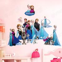 stickers hello kitty - Frozen Queen Elsa Anna Princess Girls Art Wall Stickers Decals Room Decor