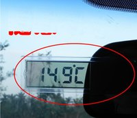 Wholesale Transparent LCD Car Thermometer K Sucker car digital thermometer Car electronic thermometers a bag