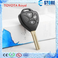 Wholesale 4 Buttons Remote Key Shell for TOYOTA Royal with uncut key blade Car Key Cover for Replacement Fine workmanship DHL Free A