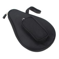 Wholesale New Black Nylon Waterproof Table Tennis Racket Bag Ping Pong Paddle Case with Ball Pouch Sport