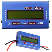Wholesale by DHL or EMS pieces New Digital V A Battery Balance LCD Voltage Power Analyzer Watt Meter Energy Meters Tester Checker