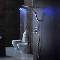 Cheap Luxury In-wall Led Bathroom Shower Faucet Mixer Taps