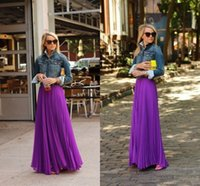 achat en gros de jupe à volants robe violette-New Purple Fashion mousseline volants Jupes longues Pour Femme 2015 un Longueur ligne de plancher adultes Jupes Custom Made filles __gVirt_NP_NNS_NNPS<__ Robes de soirée formelles