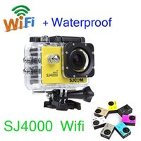 Wholesale Sport Waterproof Video Camera SJ4000 Wifi HD P inch LCD Helmet Cameras Underwater M Outdoor Action Camera Digital