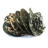 military hats - Cotton Colors Military Camouflage Bucket Hats Camo Fisherman Hats With Wide Brim Sun Fishing Bucket Hat Camping Hunting Hat