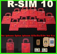 Wholesale R SIM Unlock Card R SIM R SIM Perfect unlock for iphone plus iphone s c s IOS8 ios x AT T T mobile Sprint WCDMA GSM CDMA
