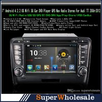 Wholesale NEW Din quot Inch GB Auto Car DVD Player GPS Audio Radio Stereo FM Bluetooth for Audi TT Model HD Touch Screen