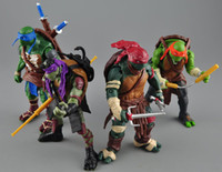 Wholesale TMNT Teenage Mutant Ninja Turtles PVC Action Figure Collection Model Toys Classic Toys Christmas Gift set Free Ship