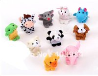Wholesale 50pcs Cartoon Animal Finger Puppet Finger toy finger doll baby dolls factory price