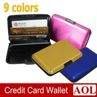 Wholesale High quality Aluminium Credit card wallet cases card holder bank case white box colors available