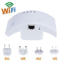 al por mayor wi fi extensor de la ue-Alta calidad 300M 802.11N red CF-WR500N Wi-Fi inalámbrico WLAN repetidor Wifi Router Range Extender con US / UE / AU Plug