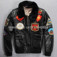 avirex clothing - Fall AVIREX original fashion design Men s genuine Leather Jacket Air Force clothing motorcycles JACKET M XL Casual jacket