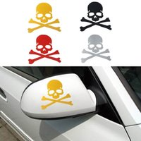 Wholesale Fashion Waterproof Skull Design D Decoration Sticker For Car Side Mirror Rearview Novelty Truck Decals Decorative Stickers A11