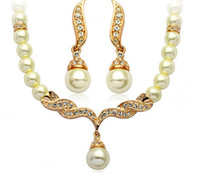 Wholesale Statement Pearl Necklaces Jewelry Set K Gold Pendant Wedding Necklaces