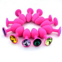 Wholesale Silicone Small Size Anal Toys Smooth Touch Colorful Diamond Butt Plug Insert Stopper Sex Toys Adult Sex Products