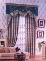 Wholesale Custom size print cheap made to measure curtains sheer valance dropship cl602